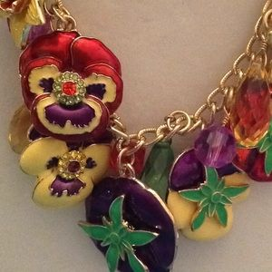 Jewelry - LATR Garden Party Pansy Necklace/ earrings